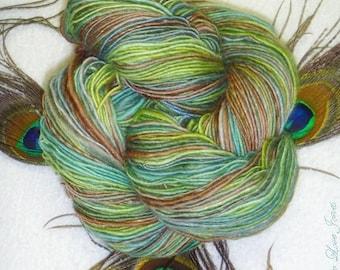Woodland Fantasy Handspun - Art Yarn - 280 yards - Single-Ply - Knitting - Crochet - Weaving - Felting - Mixed Media