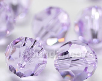 12 pcs Swarovski Elements - Swarovski Crystal Beads 5000 8mm Round Ball Beads - Violet