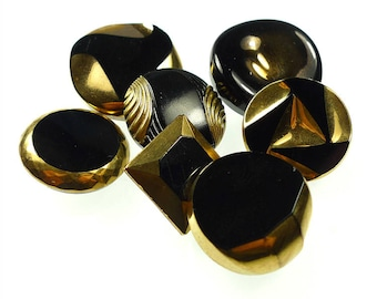 Glass buttons group of 7