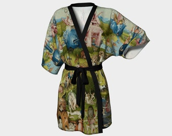 the garden of earthly delights - hieronymus bosch - printed kimono