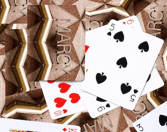 Personalized Playing Cards featuring the name MARCY in a photo of an actual sign; Deck of cards; Poker; Playing card