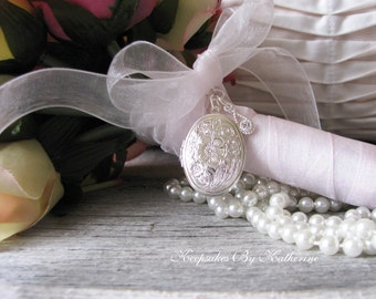 For the Bride, Happy Tears Bouquet Locket, Crystal Locket, Brides Happy Tears