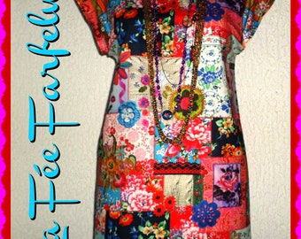 Cotton Gypsy tunic from 34 to 50 thick