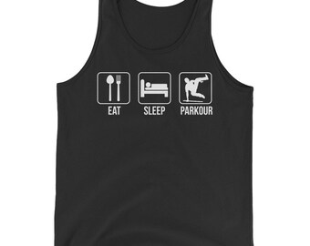 Eat Sleep Parkour Freerunning Tank Top Funny Running Lovers Gift