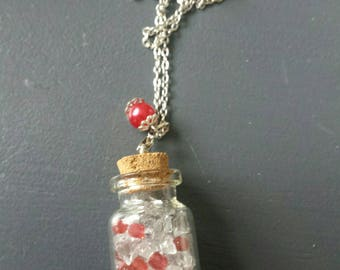 Vial necklace and Red
