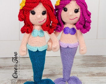 Marina the Mermaid Amigurumi - PDF Crochet Pattern - Instant Download - Amigurumi crochet Cuddy Stuff Plush