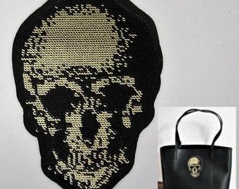 Fantasy skull application black sequins and Golden clear - 16th ref