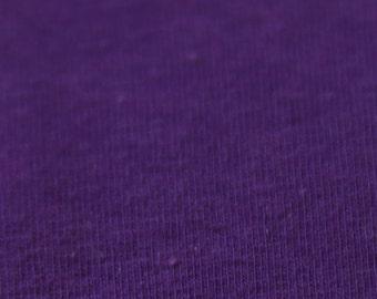 KNIT Fabric: Solid Purple Cotton Lycra knit
