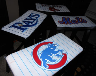 Bar Stool painted in your favorite Team Listing is for one bar stool