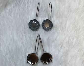 12mm empty cushion cup kidney wire earrings