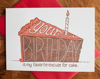 Your Birthday is my Favorite - Card