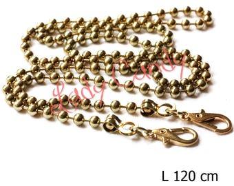 Chain shoulder strap 120 cm gold color snap clutch #330231