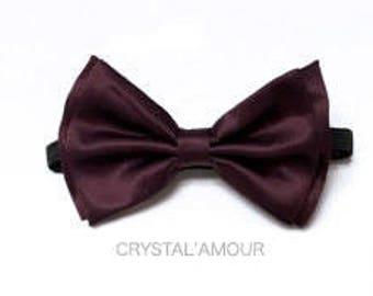 Eggplant Bow tie, Men's Bow tie, Adult Bow tie, Men's bowties, Eggplant bow ties, eggplant bow tie, wedding bow ties, prom bow ties