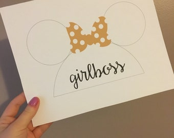 Personalized Mouseketeer Print