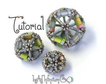 TUTORIAL Tila Icosahedron Bead Beaded with Seed Beads