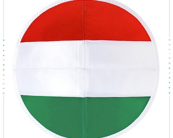 Jewish kippah yarmulke. Flag of Hungary.