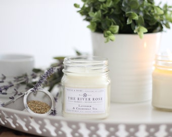 Lavender & Chamomile Tea | 100% Natural Soy Candle | Hand-Poured