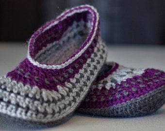 women girl crocheted slippers knitted