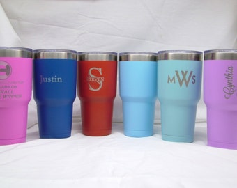 30 oz. Vacuum Insulated Stainless Steel Tumbler with Lid - Laser Engraved - Personalized/Custom Logo - BPA Free