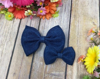 Navy Burlap Bow- 3 inch, 4 inch