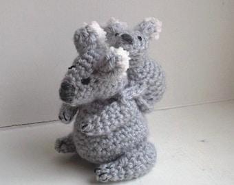 Koala Crochet Pattern  - stuffed koala pattern - easy crochet pattern - cute crochet animals - amigurumi animal gift for baby shower pattern