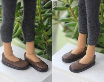 Momonita leather shoes 3.3 cm (Momonita by Atelier Momoni, Chibi Lana bjd doll shoes flats)