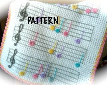 PATTERN Musical Crochet Blanket Pattern