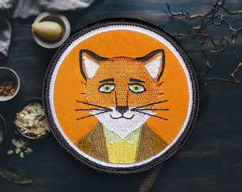 "The Fox Wearing That Fine Suit Patch | Sew On | Embroidered | Patches for Jackets | 2.75"" (Free Shipping US)"