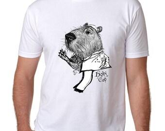 Holy Cap- Capybara- Tshirt, Mens