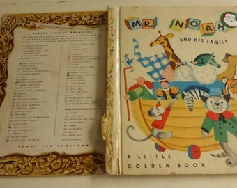 Vintage Little Golden Book Mr. Noah and His Family by Jane Werner