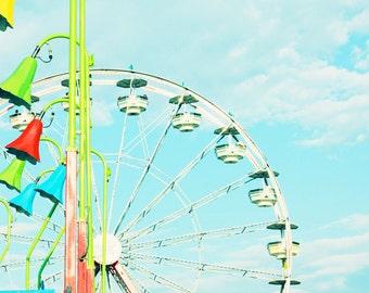 ferris wheel art kids room decor carnival art carnival pictures ferris wheel prints blue art toddler boy room nursery wall art