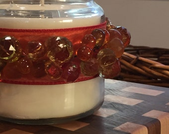 Beaded Jasmine Candle