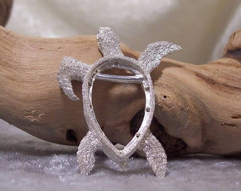 BEADABLE Sea Turtle Centerpiece in Sterling Silver