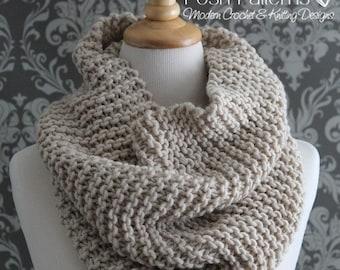 Knitting PATTERN - Knit Cowl Pattern - Cowl Knitting Pattern - Infinity Scarf Pattern - Easy Knitting Pattern - Knitting Patterns - PDF 428
