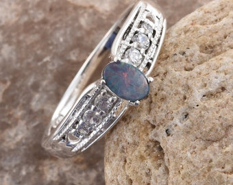 Australian Boulder Opal Ring - Size 8