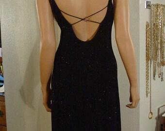 Black Slip On Spaghetti Strap Dress