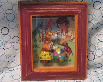 Collectable Rare Shadow Box Metal Toy Wall Art