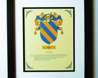 HERALDY COAT of ARMS ~ Diaz Family Crest ~ Framed