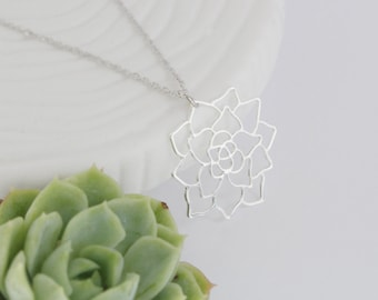 Succulent Necklace | Silver | ATL-N-192-S