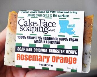 Rosemary Orange skin brightening natural soap bar