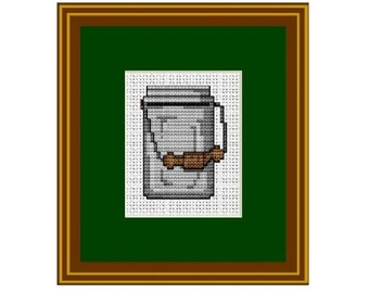 Counted Cross Stitch. Can. Pattern. Kitchen Decor.  PDF Instant Download.
