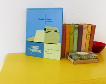 College typewriting, course book, mad men era, learn to type, how to, school work, back to school, vintage book, text book, typing class