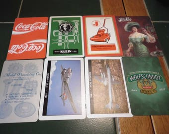 8 Playing Cards Advertising Beverages Businesses Aircraft Trade Swap ATC
