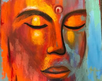 Oil painting on canvas ( Buddha)