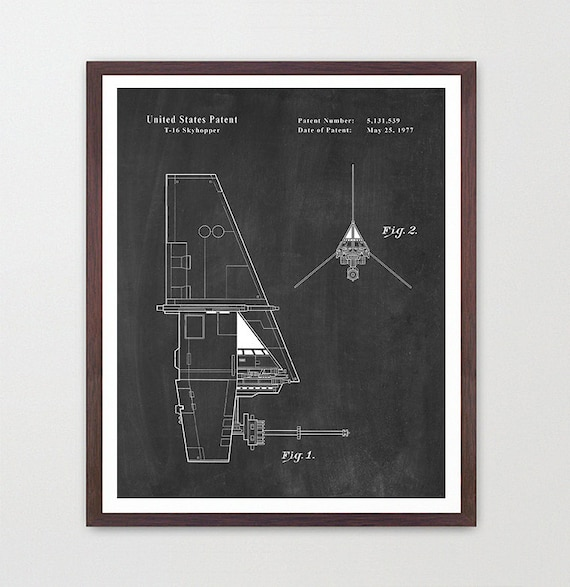 Star Wars - Skyhopper - Star Wars Patent - Star Wars Poster - Star Wars Art - Skyhopper Patent - Star Wars Wall Art - Sci Fi Patent