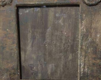 SALE!!!!!  Vintage folk art 8x10 frame marked 60% off