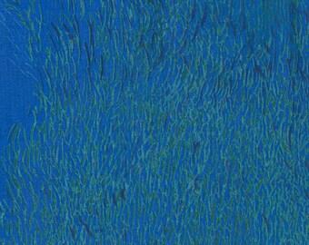 Nani Iro Kokka Japanese Fabric Wild elegant wind - blue ocean - 50cm