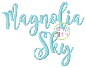 "Magnolia Sky Embroidery Font 1"", 1.5"", 2"", & 2.5:"", Letters, Punctuations and numbers in four sizes,  INSTANT DOWNLOAD now available"