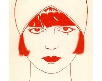 Flapper art SALE gift set five Art Deco girls  -  4 X 6  prints