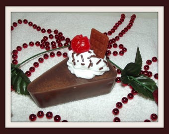 Death By Chocolate Cake Soap, Cake Soap, Chocolate Soap, Chocolate Strawberry Soap Cake, Soap Pie, Chocolate Cake, Desert Soap